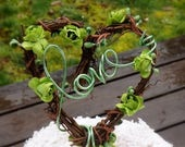 Spring Wedding Decor Love Cake Topper With Flowers, Greenery, Ready to Ship!