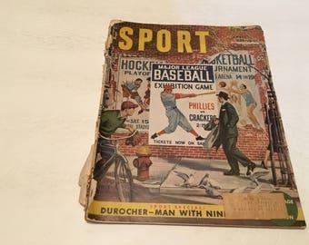 april 1951 sport magazine majot league baseball exhibition game magazine