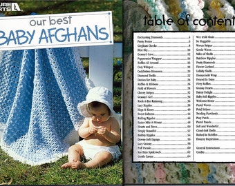 Our Best Baby Afghans Crochet Pattern Book  Leisure Arts 2853