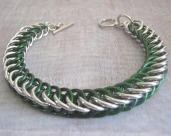 Greenery Bracelet Chain Maille Aluminum Jewelry