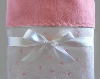 Baby Girl Blanket - Flannel Baby Blanket - Receiving Blanket Girl - Pink Baby Blanket - Baby Gifts  - Toddler Bedding - Crib Blanket -