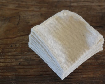 Organic Cotton Dishcloth, Birdseye, -- Choose Your Quantity and Edge Thread Color