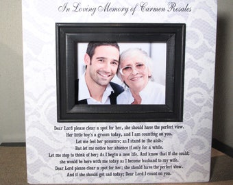 Personalized In Loving Memory Mother of the Groom Wedding Picture Frame Wood Picture Frame Wedding Loving memory Sign