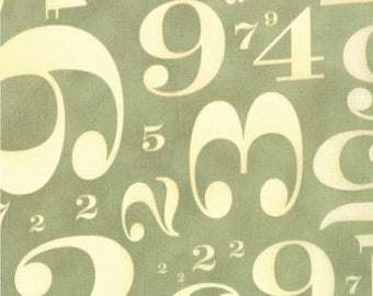 20% Off Sale Circa 1934 Numbers in Cream and Sage by Cosmo Cricket for Moda - One Yard - 37002 12