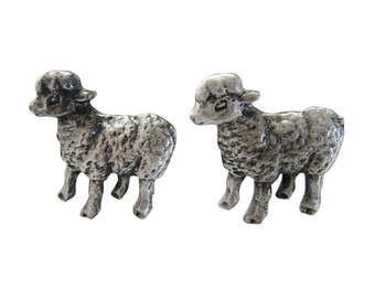Textured Sheep Cufflinks