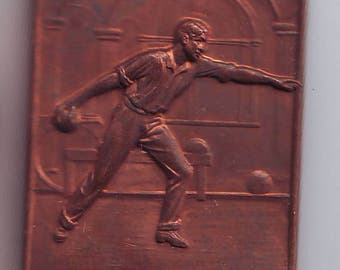 Bronze Athletics Bowling  Plaque Plaquette Ex August  Frank Philadelphia PA