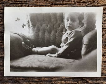 Original Vintage Photograph Tiny Tot