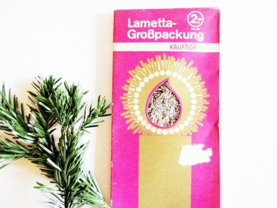 1 Big Envelope German Vintage Christmas Tinsel Lametta Heavy Icicles SILVER