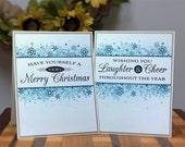 Christmas Greeting Card, Merry Christmas Card, Christmas Card Pack, Set of 6
