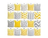 Pillow Cover.Yellow Pillow.Decorative Pillow Cover.Gray Pillow.Cushion Cover.Grey Cushion.Yellow Decor.Pillow.Grey Pillow.Gray Yellow 18x18