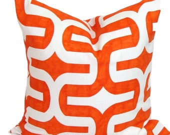 "ORANGE Pillow, 16x16"" Pillow Cover, Orange Decorative Pillow, , Orange Throw Pillow Cover,  Pillow. Orange Cushion.Orange Pillow Cover.cm"