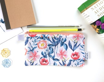 Fresh Flowers Divided Pencil Case (handmade philosophy's pattern)