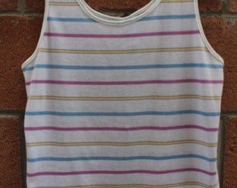 Medium size pastel color tank top