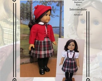 "PDF Pattern KDD-22 ""Train Station""- An Original KeepersDollyDuds Design, 18"" Doll Clothes"