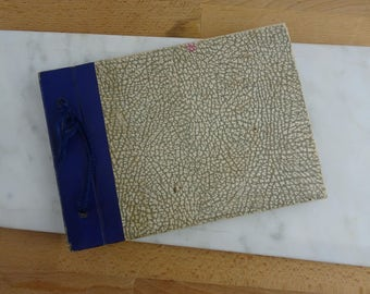 Small Vintage Photo Album for Small Rectangle Photographs, Antique Photo Display Book with Photo Corners