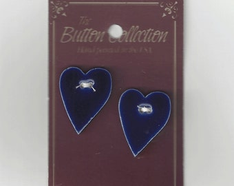 Clearance - Mill Hill Large Blue Folk Heart Button Set #86204