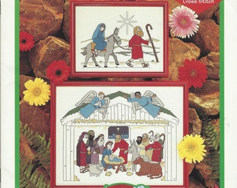 """Clearance- """"The First Christmas"""" Counted Cross Stitch by Just Cross Stitch"""
