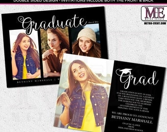 Proud & Modern Grad , Graduation Announcements With Photos