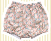 Liberty Print Mini Bloomers | Bubble Shorts for Baby | Pink Peacocks