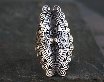 Aawut Sterling Silver Ring Hill Tribe Bohemian Jewelry