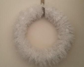 14 Inch Winter Wreath-Tinsel Wreath