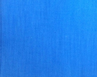 Blue Cotton Fabric / Vintage Blue Cotton Fabric / Cotton Fabric / Vintage Fabric / Blue Fabric / Quilting Fabric / 36 Inch Width