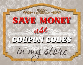 COUPON CODES DISCOUNT - How to use - Read Me (Please Do Not Buy This Listing)