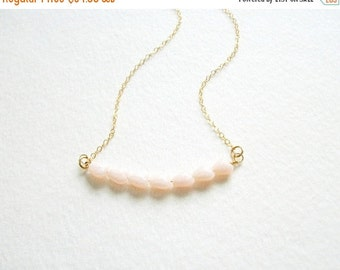 Almost Spring Sale Womans Simple Beaded Necklace Tiny Heart Necklace 14K Gold Filled Chain Sterling Silver Chain 17 18 Inches Dainty Small B