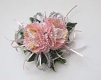 Faux Corsage - Wedding Corsage - Anniversary Corsage - Prom Corsage - Mother's Day Corsage - Pale Pink Corsage