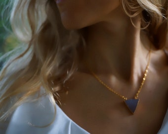 Veronica - Subtle Titanium Druzy Agate Necklace