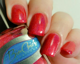 Merry Red Holographic Nail Polish