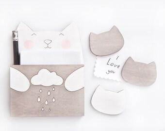 Fridge Magnets, Gray Cat Funny Magnets, Gray Kitchen Decor, Fridge Sticker, To Do List, Mom Gift, Gray Home Decor, Housewarming Gifts