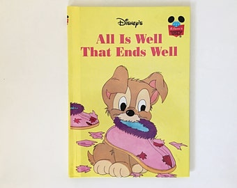 Walt Disney's All Is Well That Ends Well, Disney's Wonderful World of Reading, Grolier Book Club Children's Book, 1979, Lady and the Tramp