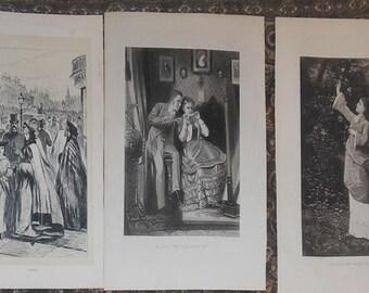 five Victorian prints markets music gardens