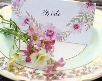Floral Bliss Wedding Place Card