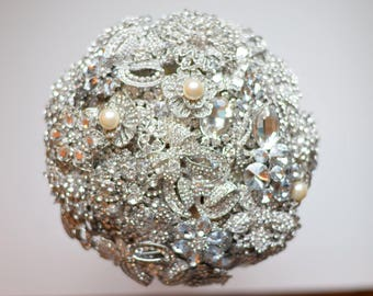 Brooch Bouquet Package Ready to Ship Brooch Bouquet with matching bridesmaids