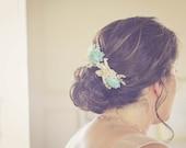 Bridal Hair combs, Hair comb, Accessories, Bobby Pins, Flower Bobby Pin, Wedding Hair Accessories, Mint hair Pin