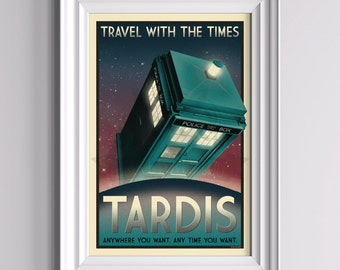 Now Boarding: TARDIS - Doctor Who Poster