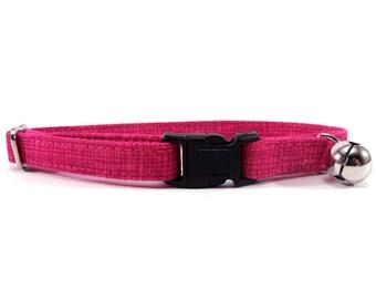 Cat Collar, Small Dog Collar, Lipstick Crosshatch