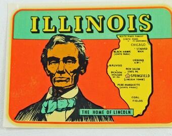 Vintage Illinois Travel Decal