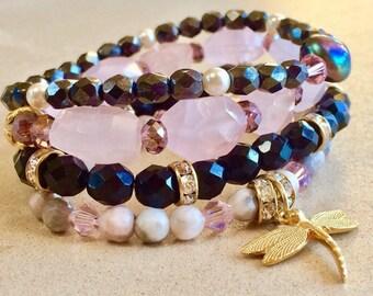 Sparkly stackable bracelets