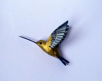 hummingbird art paper mache  bird sculpture decoration birds