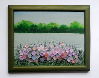 fiber textile wall hanging art embroidered painting  fabric pictures embroidery
