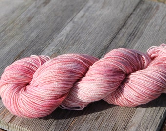 Rose Petals - merino, silk, stelina, super wash sock yarn, indie dyed, hand dyed,  knitting, crochet