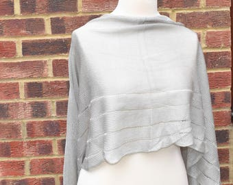 Bridal shawl,Silver Grey Wrap, Elegant Silky Shawl,Bridesmaids Wrap, Evening Shawl,Bridal Cover up,Evening Shawl Wrap,Wedding Shawl