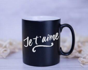 Je t'aime Satin Coated Mug