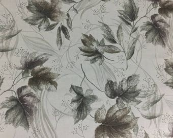 Leaves on Gray -  Cotton Fabric - Elite -  FL-03