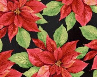 Poinsettia Fabric - Cotton Fabric - Maywood Studio -  XMAS-01