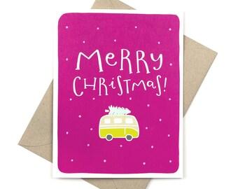 cute christmas card - merry christmas