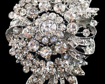 Rhinestone Brooch Pin - Rhinestone Crystal Brooch - Rhinestone Brooch - Vintage Style Brooch
